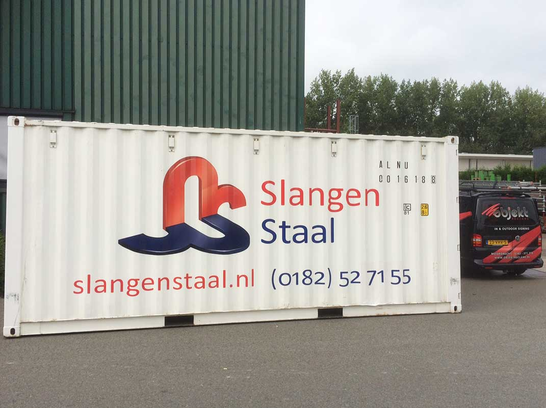 Objekt Reclame - Containerbelettering